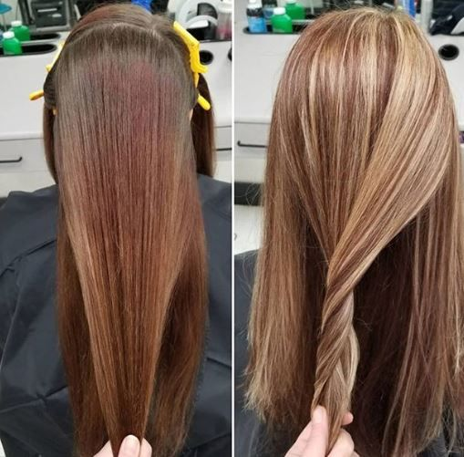 Calling All At Home Color Mishaps Check Out The Beautiful Color Transformations That Smartstyle Stylists Chelsea And S Fresh Haircut Stylists Long Hair Styles