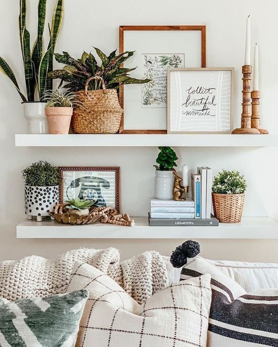 12 Expert Shelf Decor Ideas How To Style Them Like A Pro The Unlikely Hostess In 2020 Wall Decor Living Room Room Wall Decor Home Decor