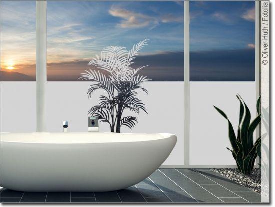 Sichtschutz Mit Palmwedel Sichtschutzfolie Fensterfolie Palmwedel