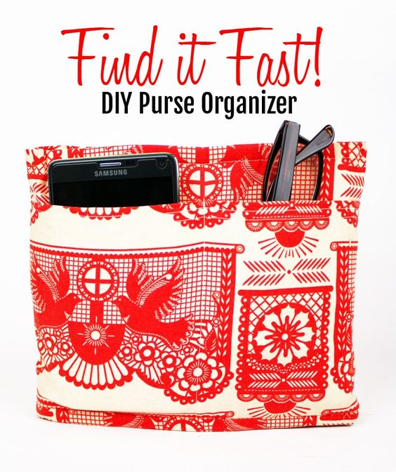 DIY customizable purse organizer in Anna Maria Horner fabric
