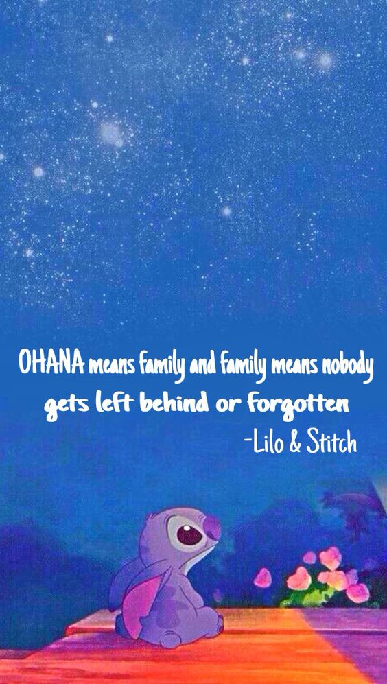 stitch ohana quote wallpaper - photo #6