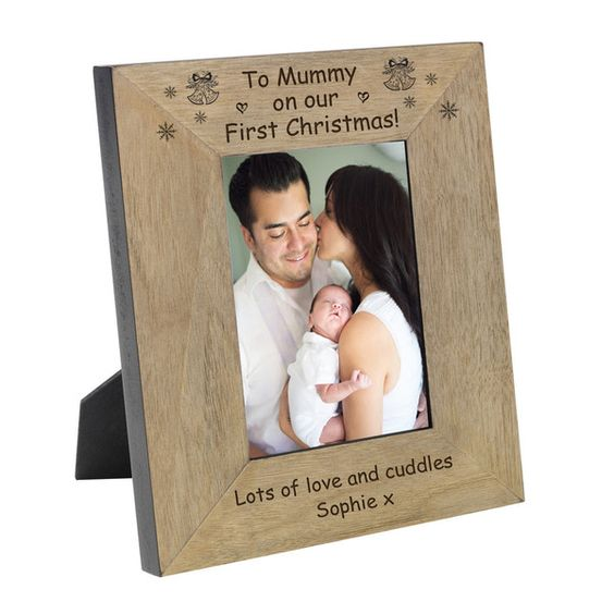 A lovely treat for Mummy from her baby on their 1st Christmas together.  Available in 4x6 or 5x7.  Choose either portrait or landscape.  Free delivery.