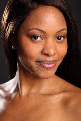 Portrait of stunningly beautiful black woman Stock Photo