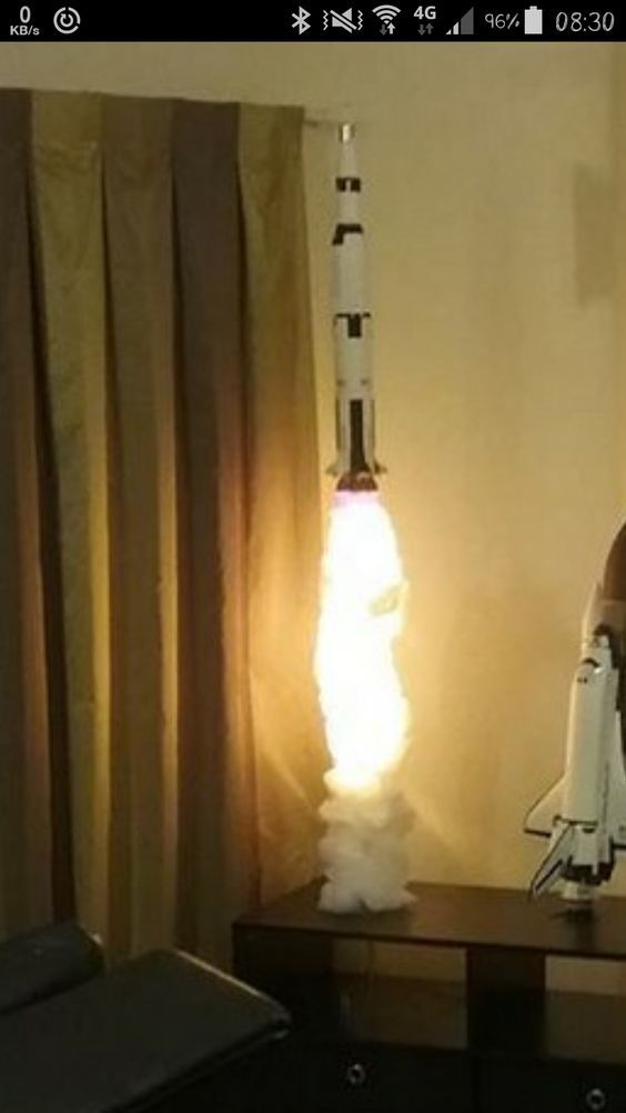 This Is The Coolest Lamp I Have Ever Seen Apollo Launch Rocket Lamp Lamp Cool Stuff