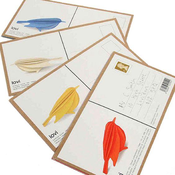 Birch Bird Card - the card breaks apart to create a birch bird