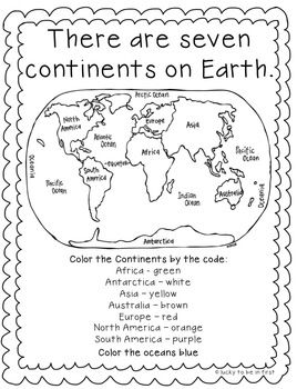 PrimaryLeap.co.uk - The Seven Continents Worksheet