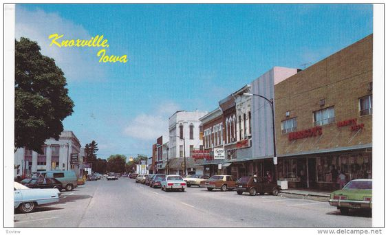 Main Street , KNOXVILLE , Iowa , 50-60s - Delcampe.com