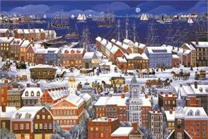 """Carol Dyer Limited Edition Print:""""Boston, A city By the Sea"""""""
