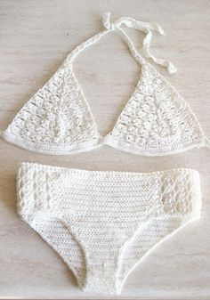 Crochet bikini Swimsuit crochet with microfibre thread by MarryG