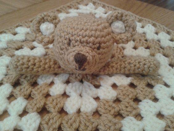 Teddy Bear Lovey Security Blanket Blankie pattern by Peach ...