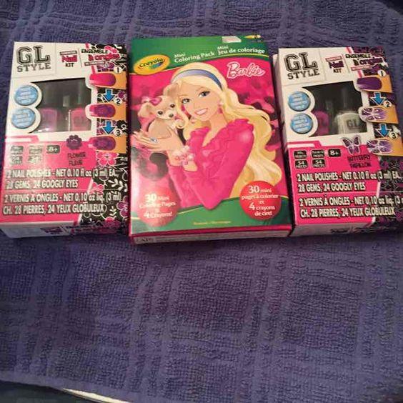 Girls Nail Polish Barbie Coloring Book