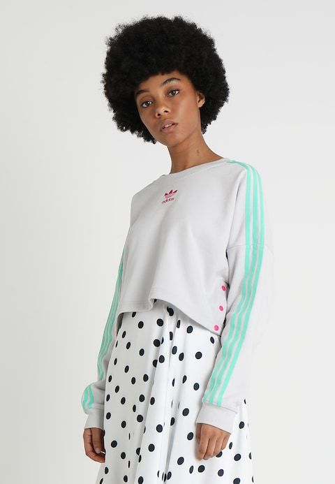 Confidencial Correo metano  adidas Originals CROPPED - Sweater - grey one - Zalando.nl | Grijze trui,  Adidas originals, Sweater