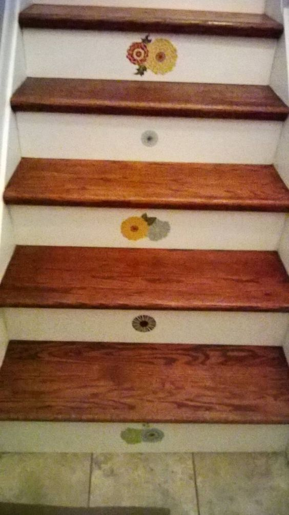 Best Easy Stair Update Used A Stair Tread And Riser Board Kit 400 x 300