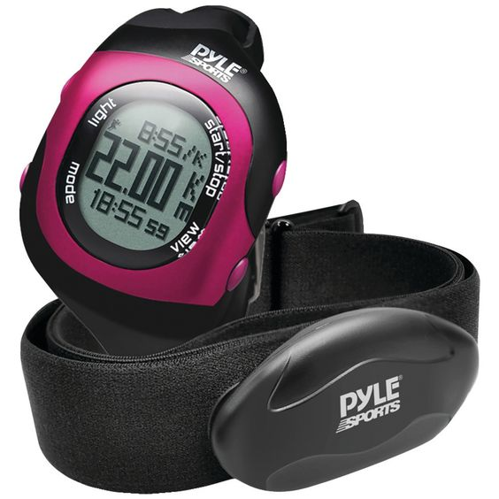 Pyle-sports Bluetooth Fitness Heart Rate Monitoring Watch With Wireless Data Transmission & Sensor (pink)