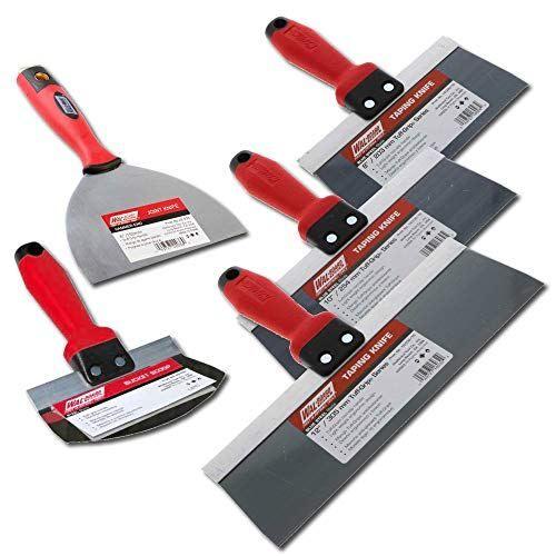 Wal Board Blue Steel Drywall Taping Knife Set Soft Grip Knife Sets Knife Chef Knife
