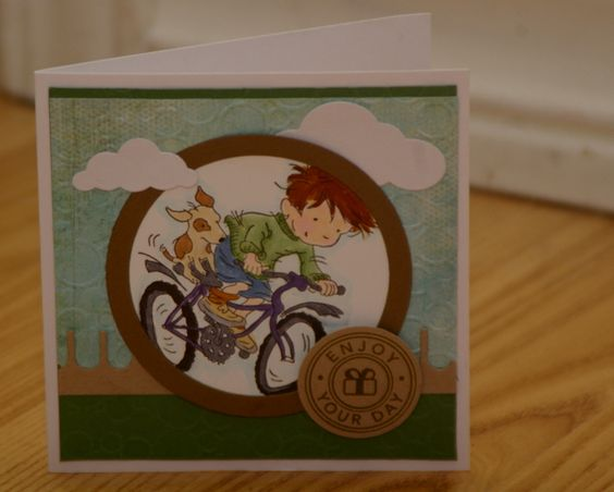 Biking By for your birthday by mayodino - Cards and Paper Crafts at Splitcoaststampers