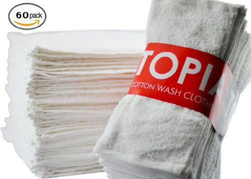 #Utopia Washcloths - 60-Pack, White $32.00