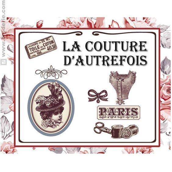 Broderie Point de Croix Pique aiguilles la couture d'autrefois Marie Coeur 1149.4808 - La Maison du Canevas et de la Broderie