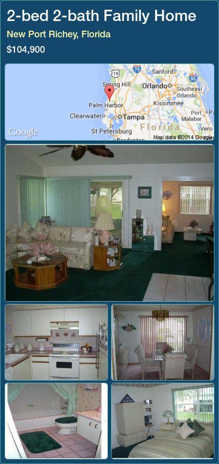2-bed 2-bath Family Home in New Port Richey, Florida ►$104,900 #PropertyForSaleFlorida http://florida-magic.com/properties/39110-family-home-for-sale-in-new-port-richey-florida-with-2-bedroom-2-bathroom