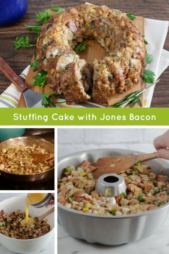 Put your bundt pan to use with this savory bacon stuffing cake that
