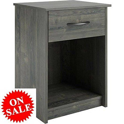 Small Wood Nightstand With Storage Bedside Console Table Modern