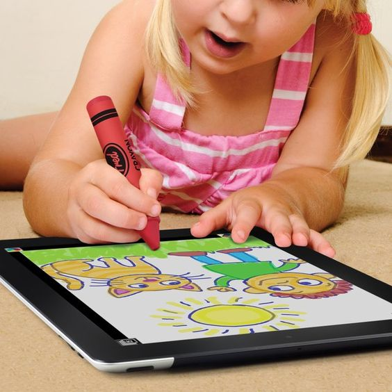 iCreate Crayon Stylus / Let your kids rejuvenate the spirit of using crayons while painting in this age of smartphones and tablets with the iCreate Crayon Stylus. http://thegadgetflow.com/portfolio/icreate-crayon-stylus/
