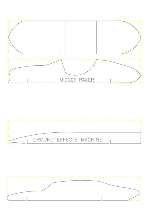 Pinewood derby car templates wood working pinterest