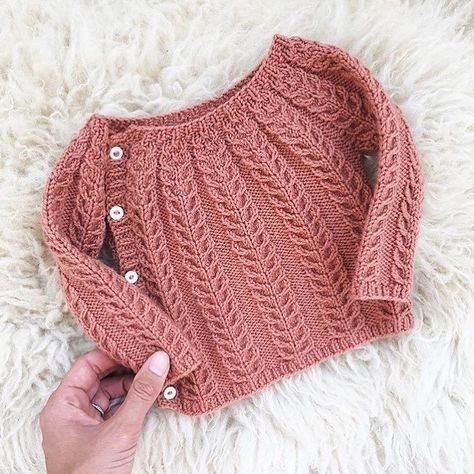 So sweet. The sweetest little wool sweater in Chickadee Clay regrammed from @christine.chitnis. #quincechickadee #quinceandco