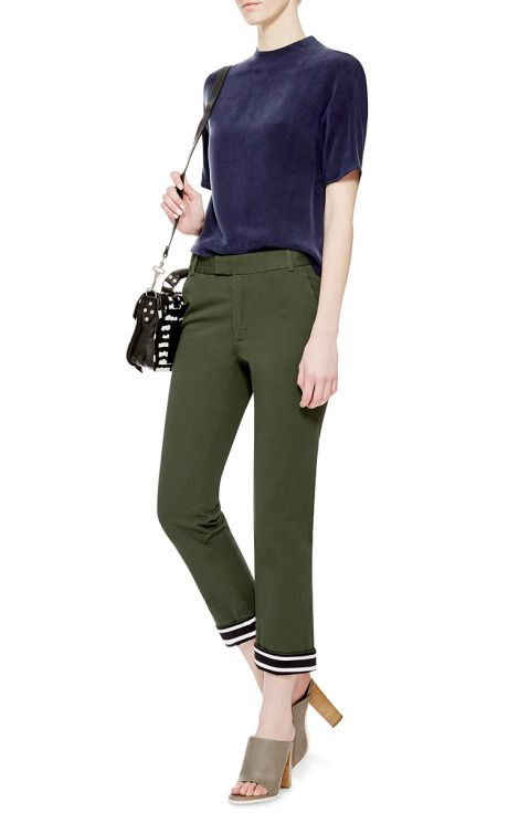 Cropped Contrast Cuff Chinos by Band of Outsiders - Moda Operandi