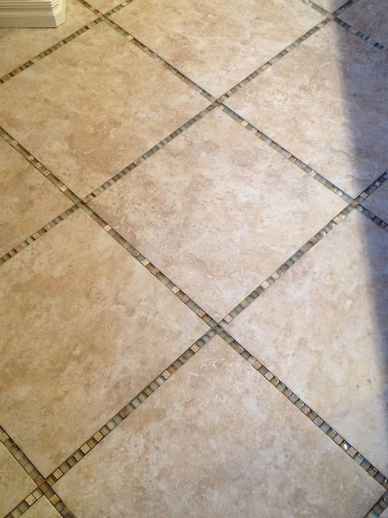 Custom Tile Floor With Glass Tiles Rather Than Grout Bathrooms