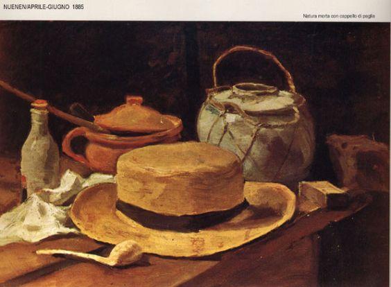 Van Gogh - Natura morta con cappello di paglia