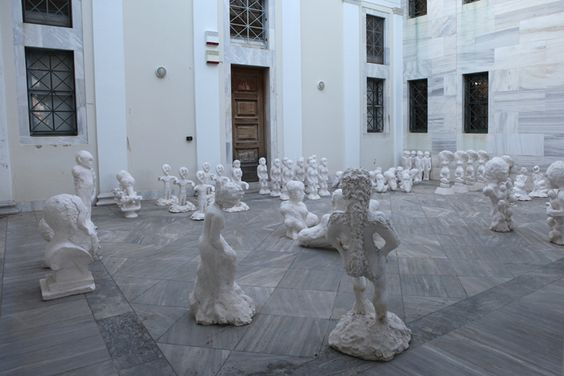 Sculptures in courtyard