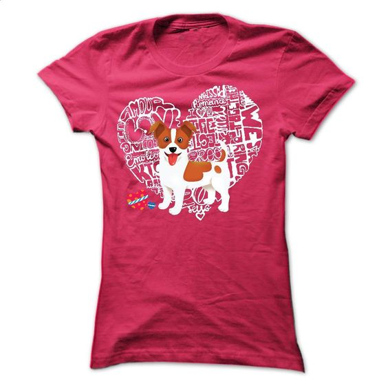 Jack Russell Love Heart  T Shirts, Hoodies, Sweatshirts - #hoodie #hoddies. PURCHASE NOW => https://www.sunfrog.com/Pets/Jack-Russell--Love-Heart--Ladies.html?id=60505