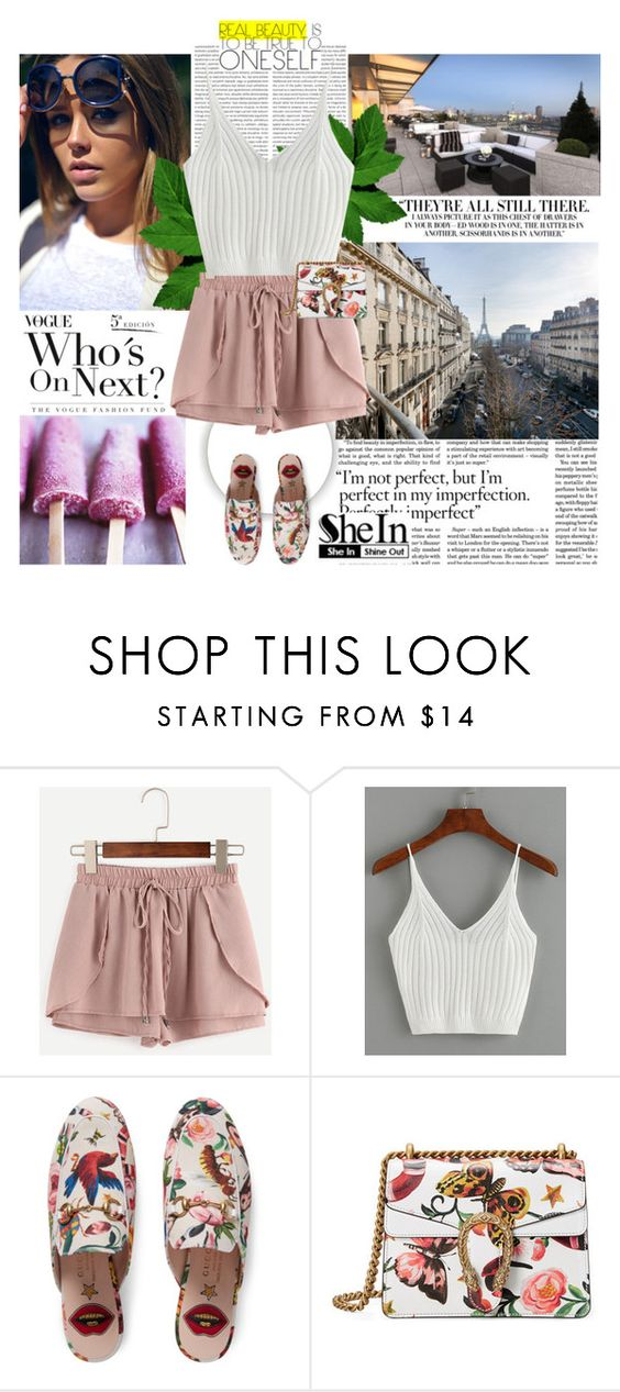 """""""Shein"""" by brigitte-klaudia ❤ liked on Polyvore featuring Vanity Fair and Gucci"""