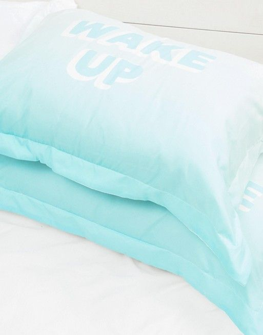 Typo Wake Up and Be Awesome Pillowcase