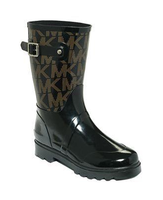 MICHAEL Michael Kors Logo Mid Rainboots | Shops Rain boots and Rain