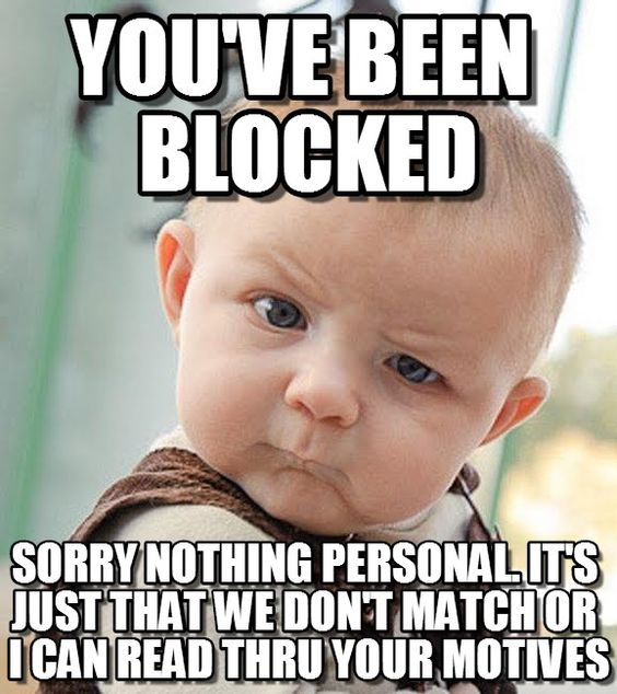 Love Each Other When Two Souls: Block Me On Fb Meme - Google Search