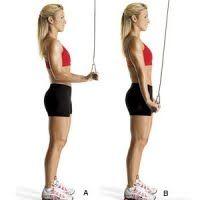 Triceps Pushdown, oefeningen tegen kipfiletjes