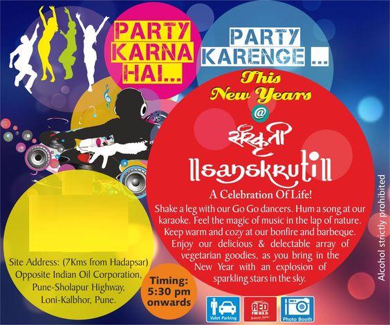 New Year Celebration at Sanskruti Resort in Pune on December 31, 2014