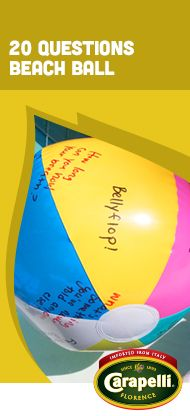 Get to know your friends better with this fun, beach ball game. #Carapelli #BeachBallGame