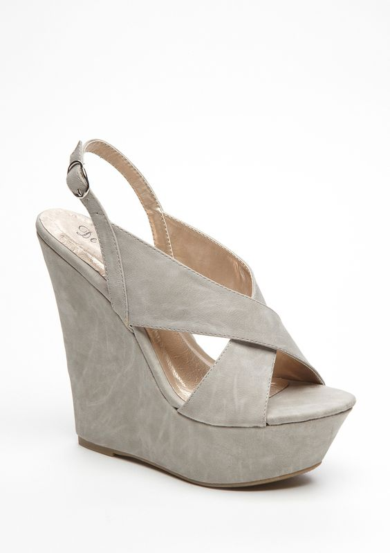 Asi-1 Gray Wedge Sandal by Blossom | Shoes | Pinterest | Gray ...