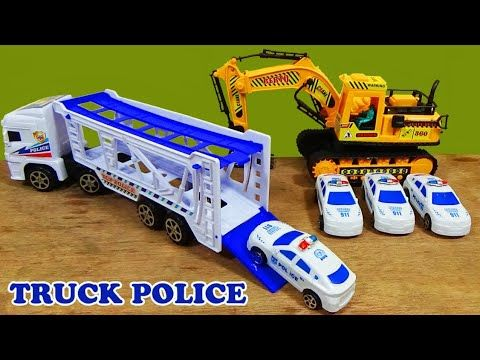 Mainan Anak Mobil Mobilan Unboxing Mobil Truk Polisi Dan 4 Mobil Polisi Mini Youtube Mobil Polisi Mobil Truk