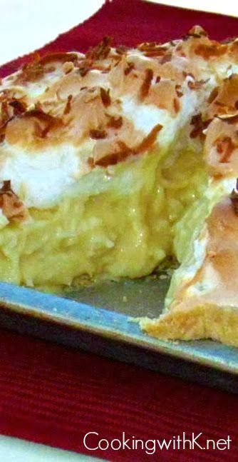 Cooking with K - Southern Kitchen Happenings: Yummy! Old Fashioned Coconut Meringue Pie {Granny's Recipe}