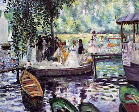 La Grenouillere  (La Grenouillère)  1869  Auguste Renoir