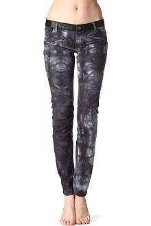 MAJE Arno printed skinny mid-rise jeans