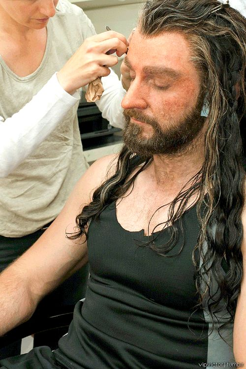 Makeup session - turning Richard Armitage into Thorin ...