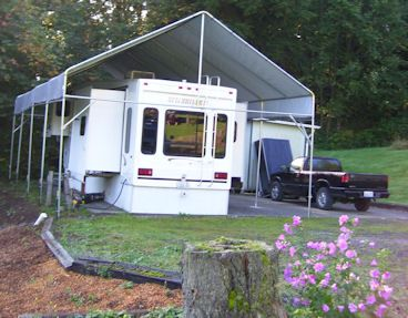 Make your own portable carport shelter kits long lasting for Portable rv garage