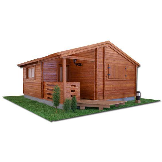 Maqueta caba as de madera en camping do ana playa mazagon - Construccion de cabanas de madera ...