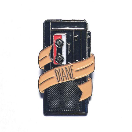 Twin Peaks - Diane Tape Recorder Lapel Pin