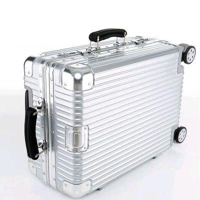 "20""22""24""26""29"" TSA leather handle Aluminum frame+PC travel trolley case hardside rolling luggage vintage suitcase with wheels"